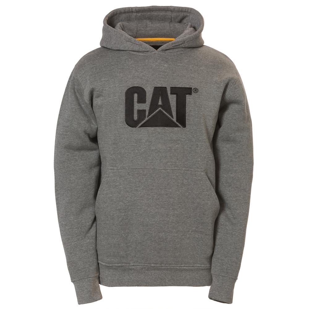 Trademark Men's Size X-Large Dark Heather Grey Cotton/Polyester Hooded Sweatshirt