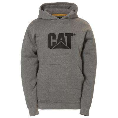 Men's Size X-Large Dark Heather Grey Cotton/Polyester Trademark Hooded Sweatshirt