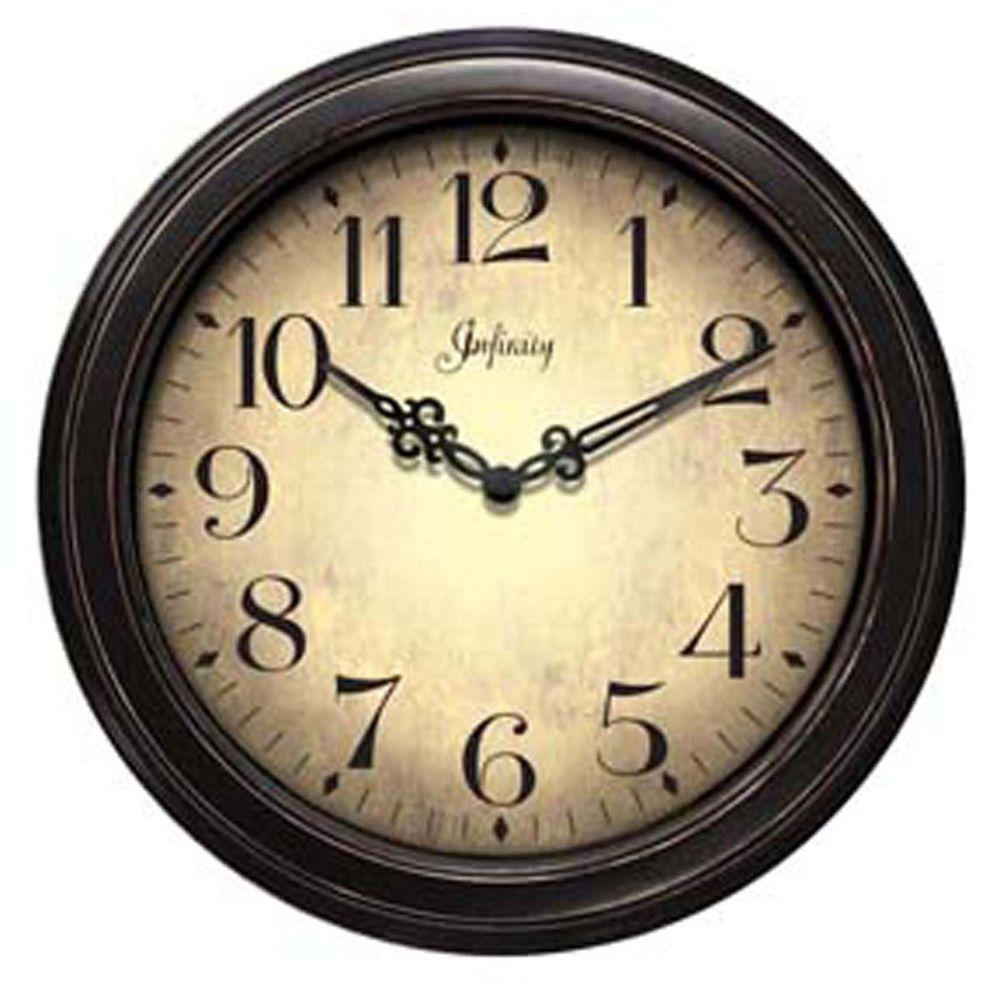 Home Decorators Collection 12 in. Precedent Black Wall Clock