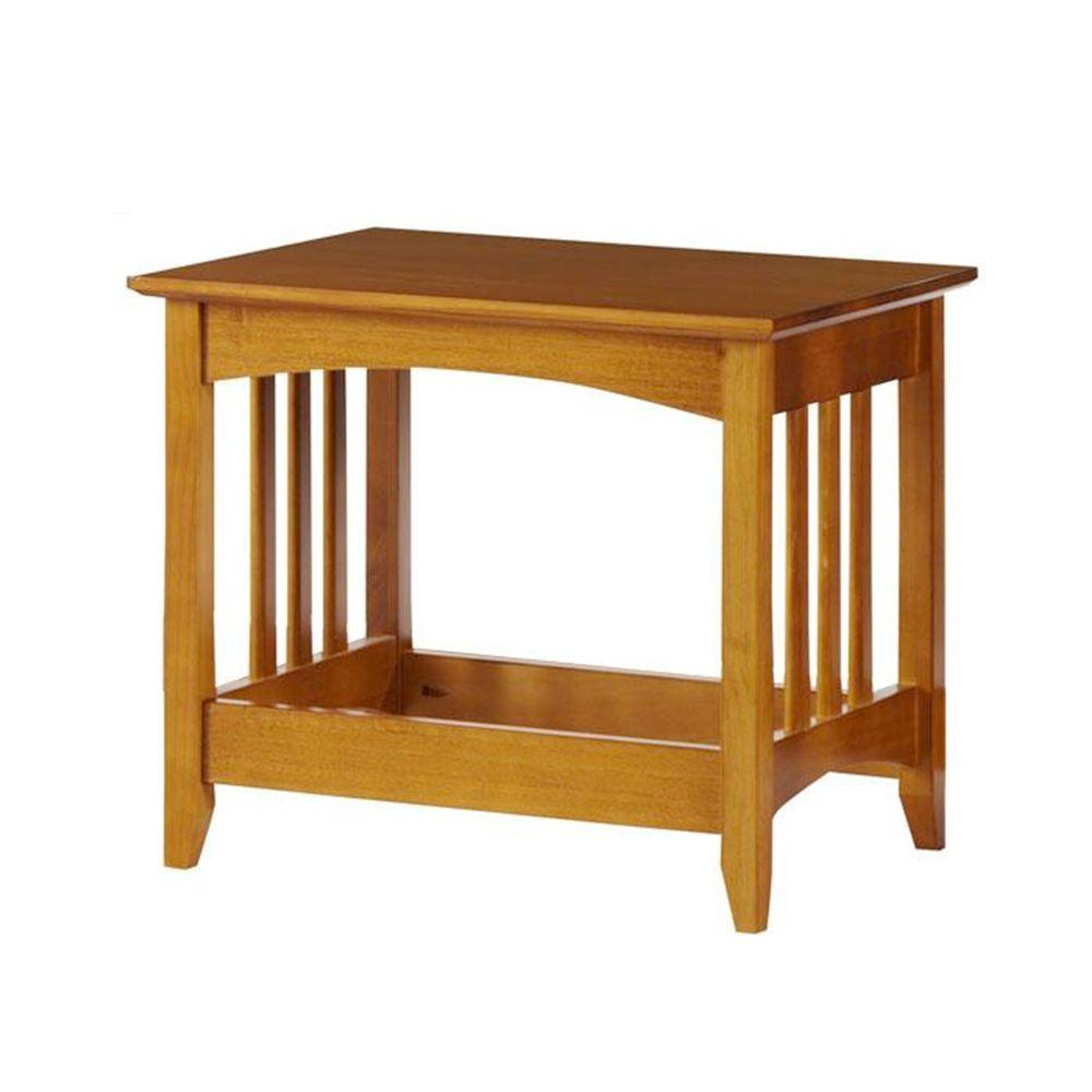 Home Decorators Collection Hawthorne Oak 21 in. W Slatted Bench