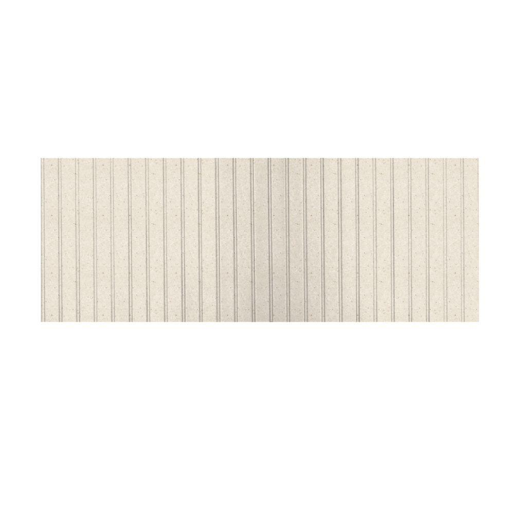 Swanstone 8 ft. x 3 ft. Beadboard One Piece Easy Up Adhesive Wainscot in Tahiti Sand-DISCONTINUED