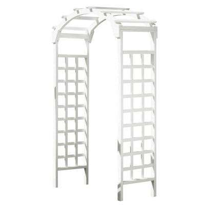White Arch 84 x 48 in. Outside Wooden Garden Arbor