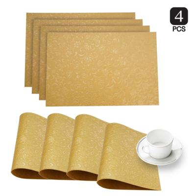 Susan Gold Faux Leather Placemat (Set of 4)
