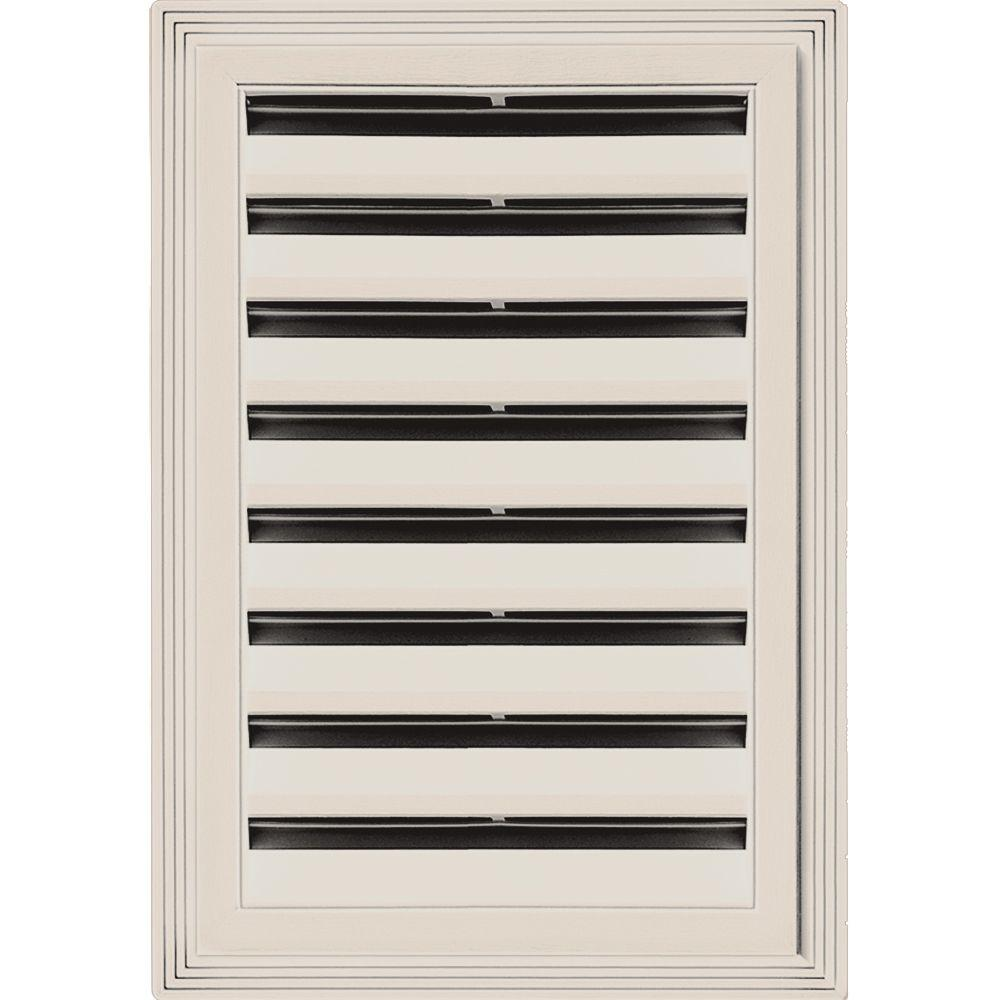12 in. x 18 in. Rectangle Gable Vent #048 Almond