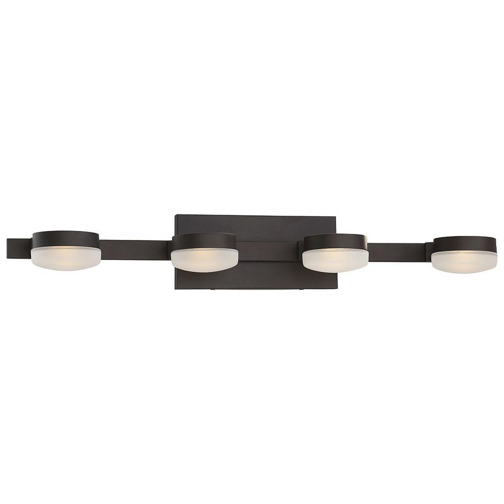 Integrated led vanity lighting lighting the home depot 4 light oil rubbed bronze led bath vanity light aloadofball Choice Image