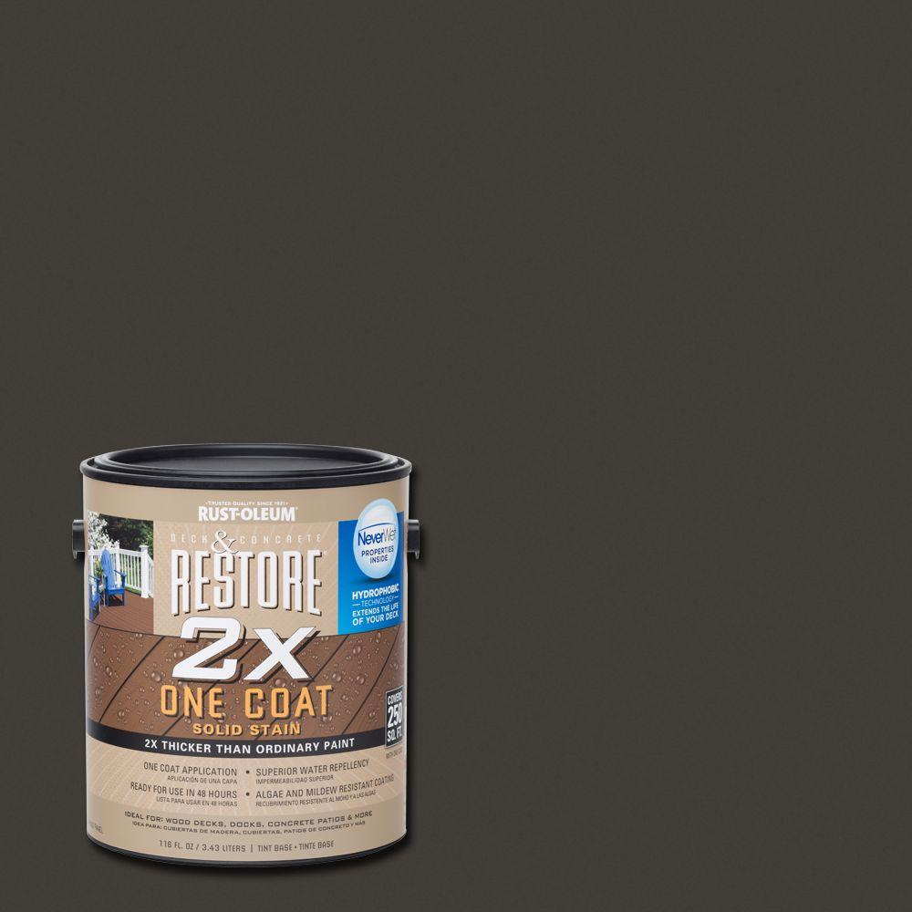 1 gal. 2X Bark Solid Deck Stain with NeverWet