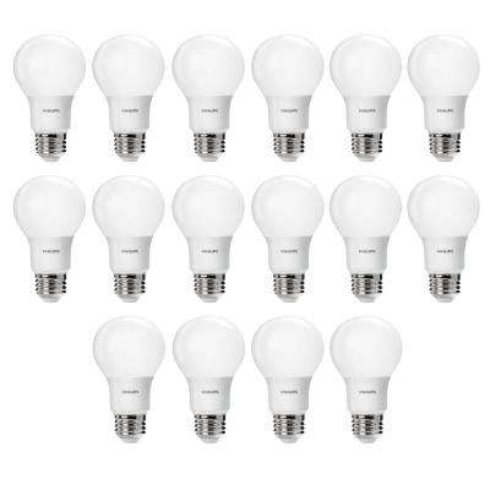 60-Watt Equivalent A19 Non-Dimmable Energy Saving LED Light Bulb Daylight (5000K) (16-Pack)