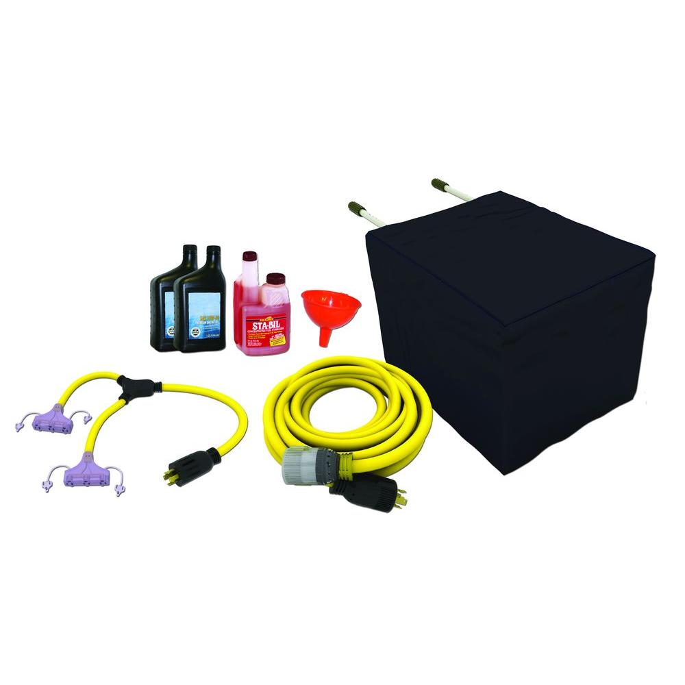 Universal Generator Accessory Kit (cords, adapters, oil, cover, stabilizer)