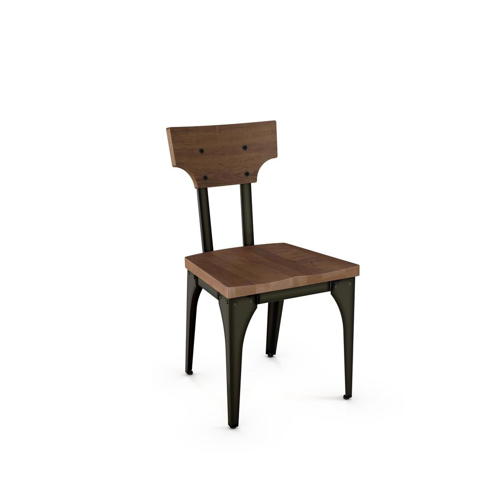 Hammered Brown Brown Wood Seat Chair Metal Hammered M Station Photo 338