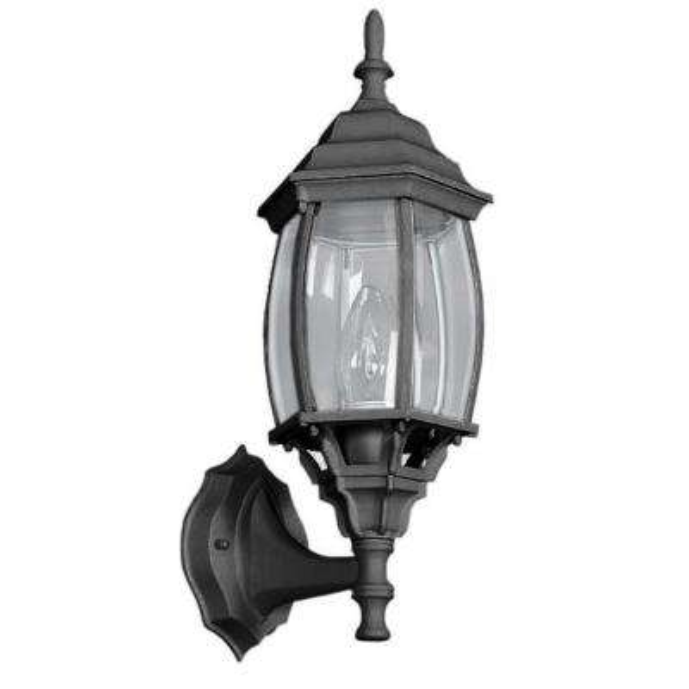 Wolter 1-Light Black Outdoor Wall Lantern