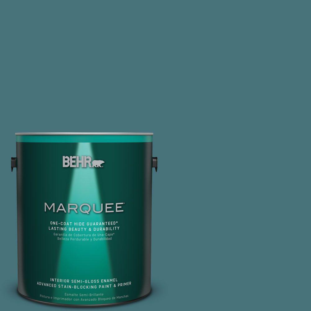 1 gal. #HDC-FL15-03 Blue Sage Semi-Gloss Enamel Interior Paint