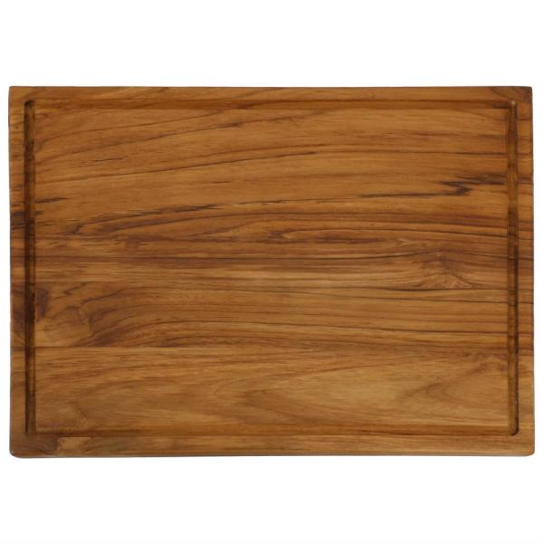 16 in. x 12 in. Rectangle Wooden Teak End Grain Cutting Board with Cured Beeswax Finish