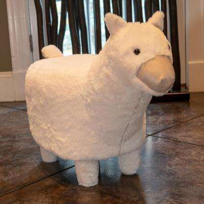 Alpaca 15 in. White Stool