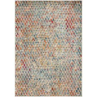 Caius Multi-color 2 ft. x 3 ft. Abstract Area Rug