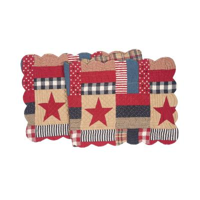 Bennington 14 in. x 51 in. Multi Plaid Cotton Table Runner