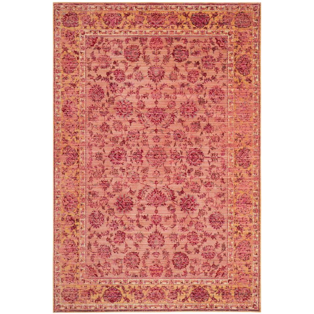 Safavieh Valencia Pink Multi 8 Ft X 10 Ft Area Rug Val113h 8 The Home Depot