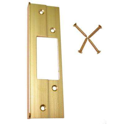6 in. Brass Guard-A Latch Security Protector Plate