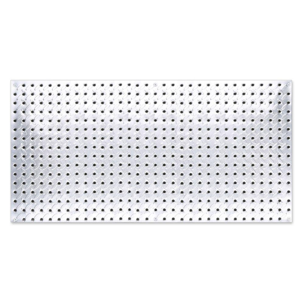 16 in. x 32 in. Diamond Plate Galvanized Steel Pegboard
