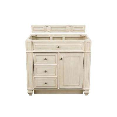 Bristol 36 in. W Single Vanity Cabinet Only in Vintage Vanilla