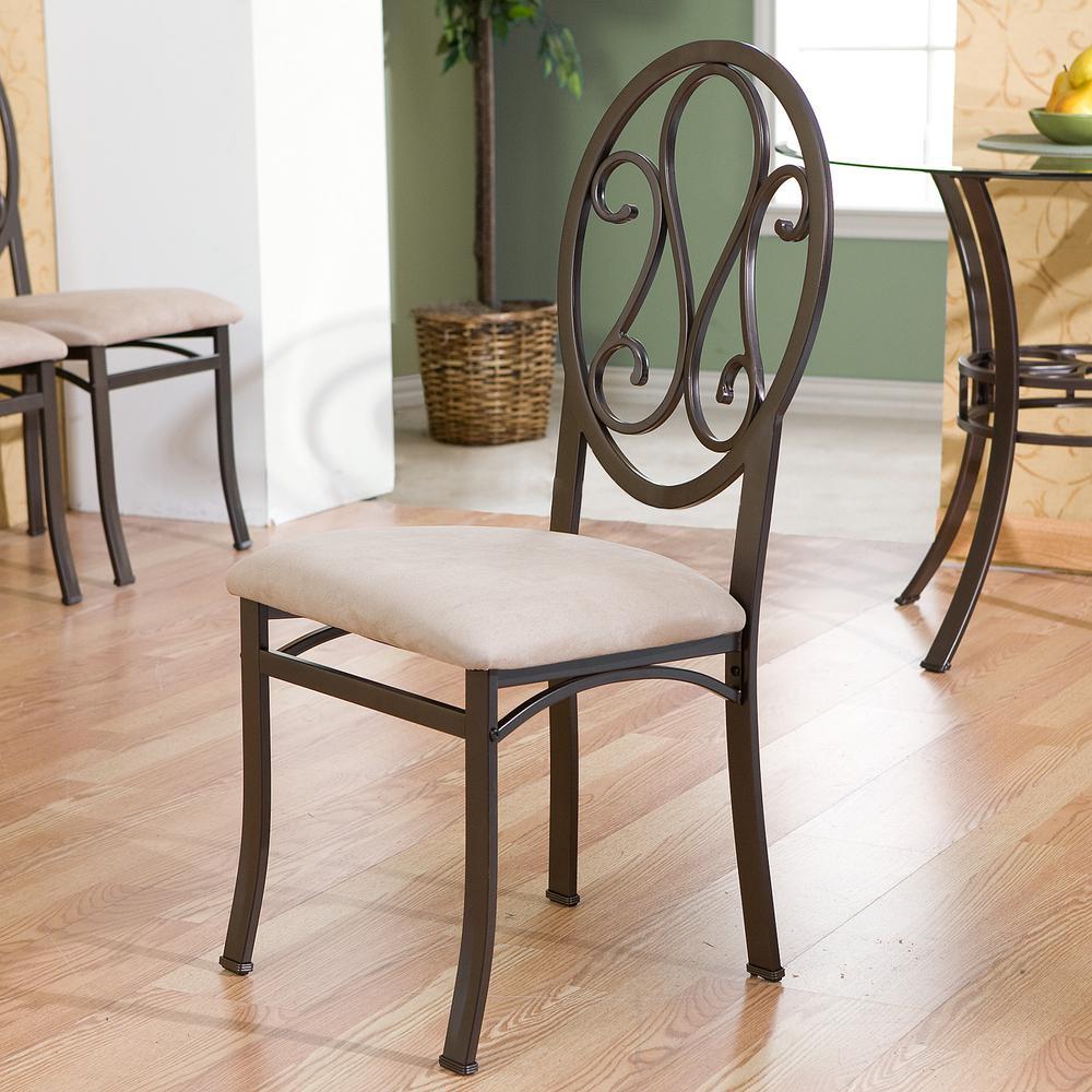 Dark Brown Metal Dining Chair (Set of 4)
