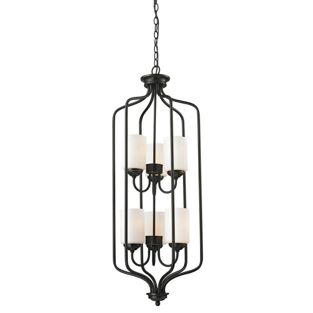 Filament Design Tetra 6-Light Olde Bronze Pendant-CLI-JB