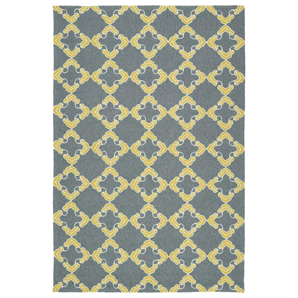 Escape Grey 9 ft. x 12 ft. Indoor/Outdoor Area Rug