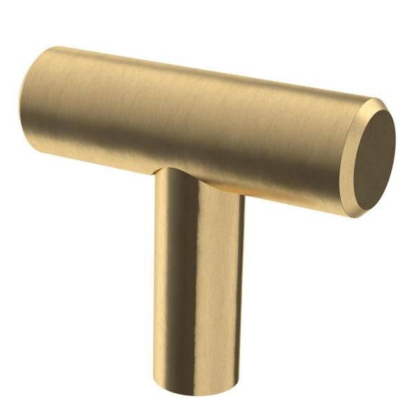 1-9/16 in. (40 mm) Champagne Bronze Bar Cabinet Knob (10-Pack)
