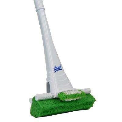 Roller Sponge Mop with Pivoting Scrub Brush