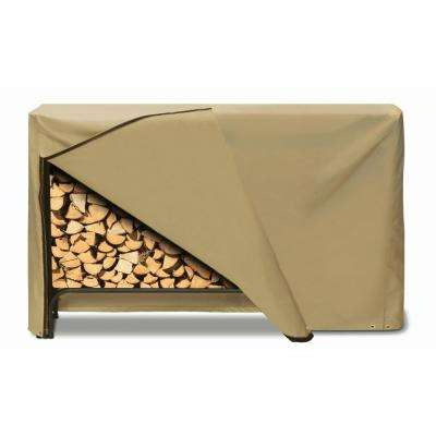 96 in. x 42 in. Log Rack Cover in Khaki