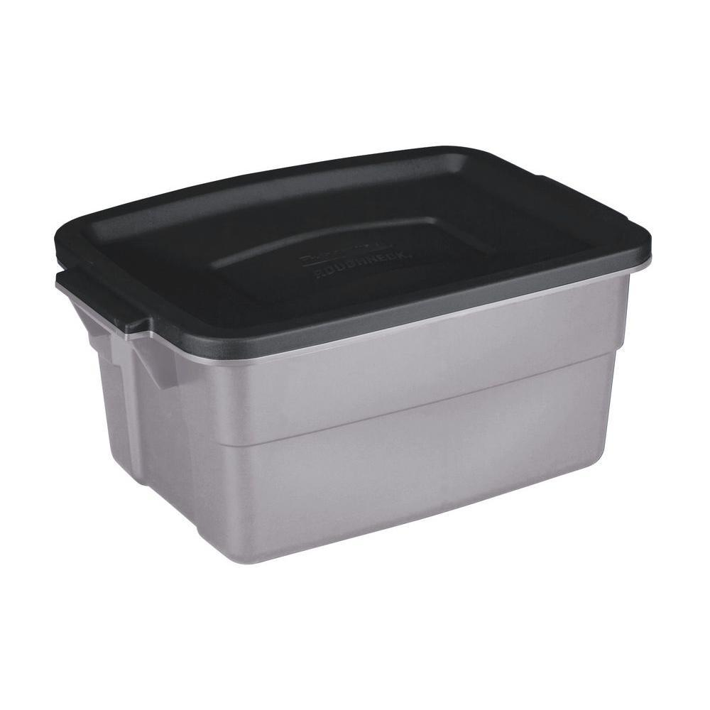 style pd rubbermaid with tote gallon standard tubs gray shop tub snap lid at selections