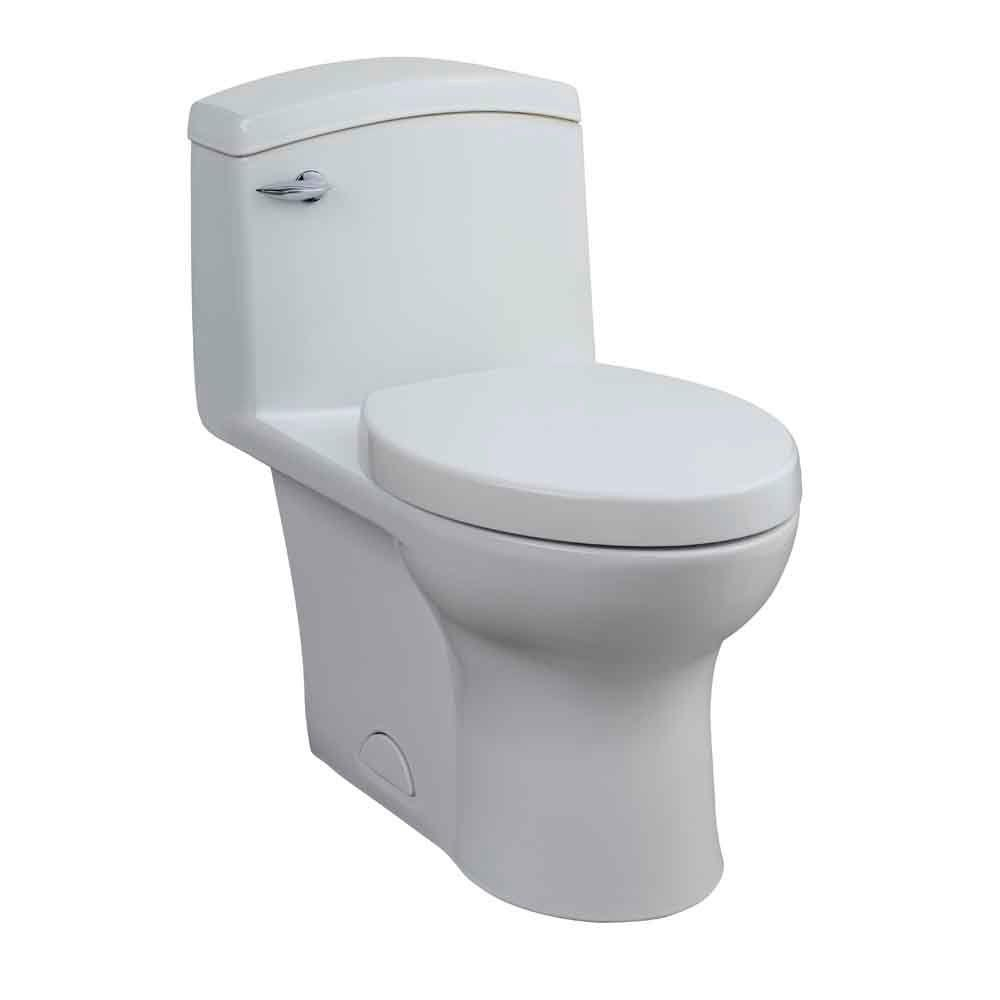 Porcher Veneto 1-Piece 1.6 GPF Elongated Water Closet Toilet with Slow-Close Seat in White-DISCONTINUED