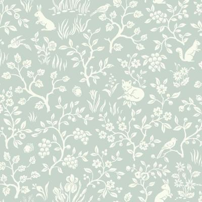 56 sq. ft. Fox and Hare Wallpaper