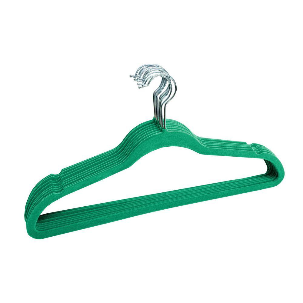 Turquoise Velvet Slim Hanger (100-Pack)