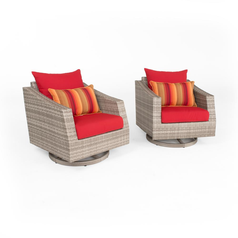 RST Brands Cannes 2 Piece All Weather Wicker Patio Motion Club Chair  Seating Set