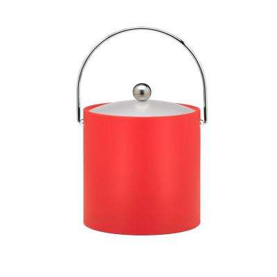 Bartenders Choice Fun Colors Red 3 Qt. Ice Bucket