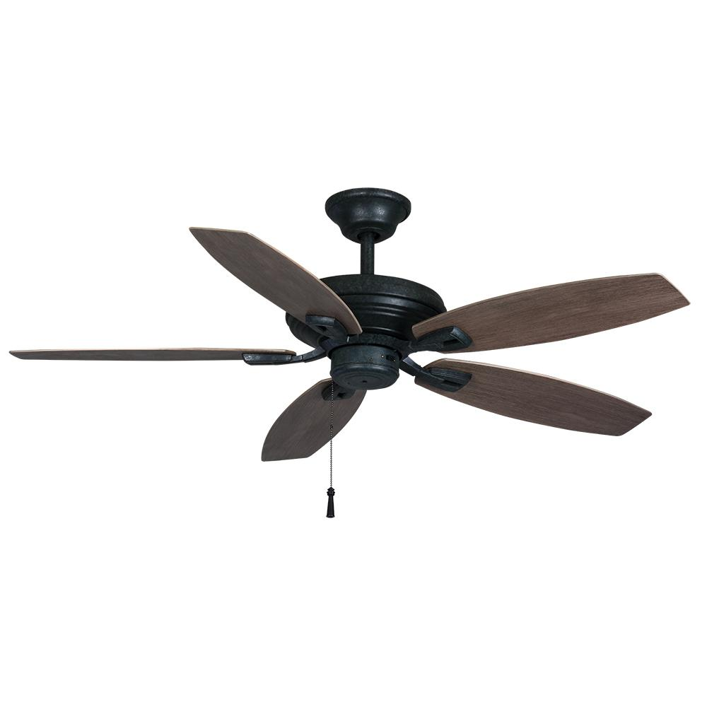 Hampton Bay North Pond 52 in. Indoor/Outdoor Aged Silver Ceiling Fan