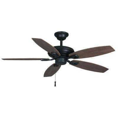 North Pond 52 in. Indoor/Outdoor Aged Silver Ceiling Fan