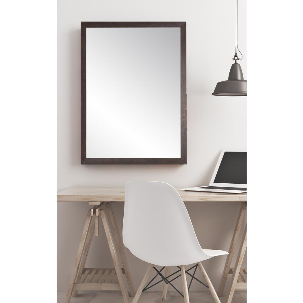 Ash Brown Farmhouse Accent Mirror