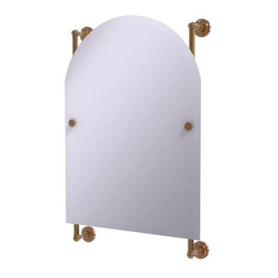Dottingham Collection Arched Top Frameless Rail Mounted Mirror in Brushed Bronze