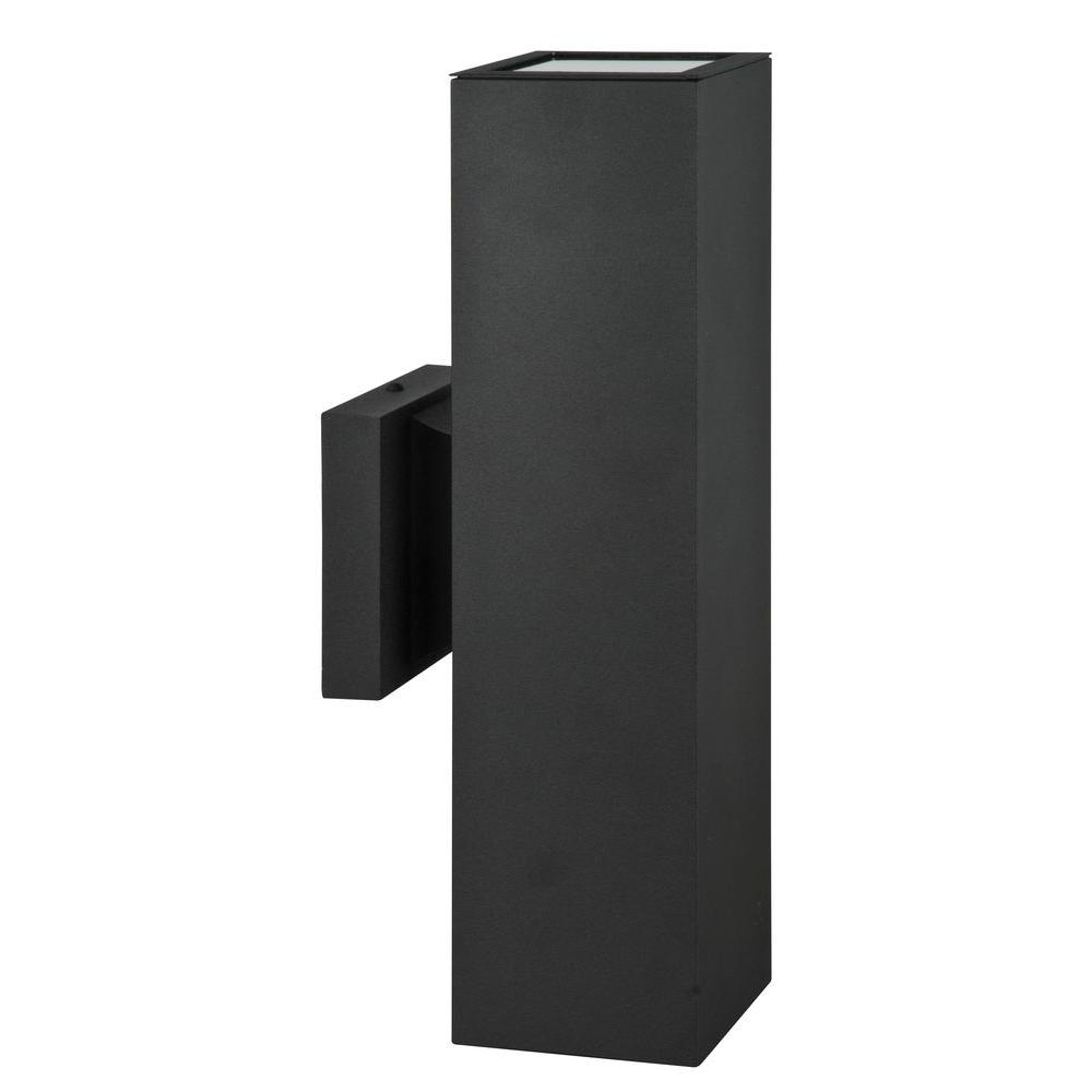 Marvelous Luminance Architectural Exterior 2 Light Black Wall Sconce