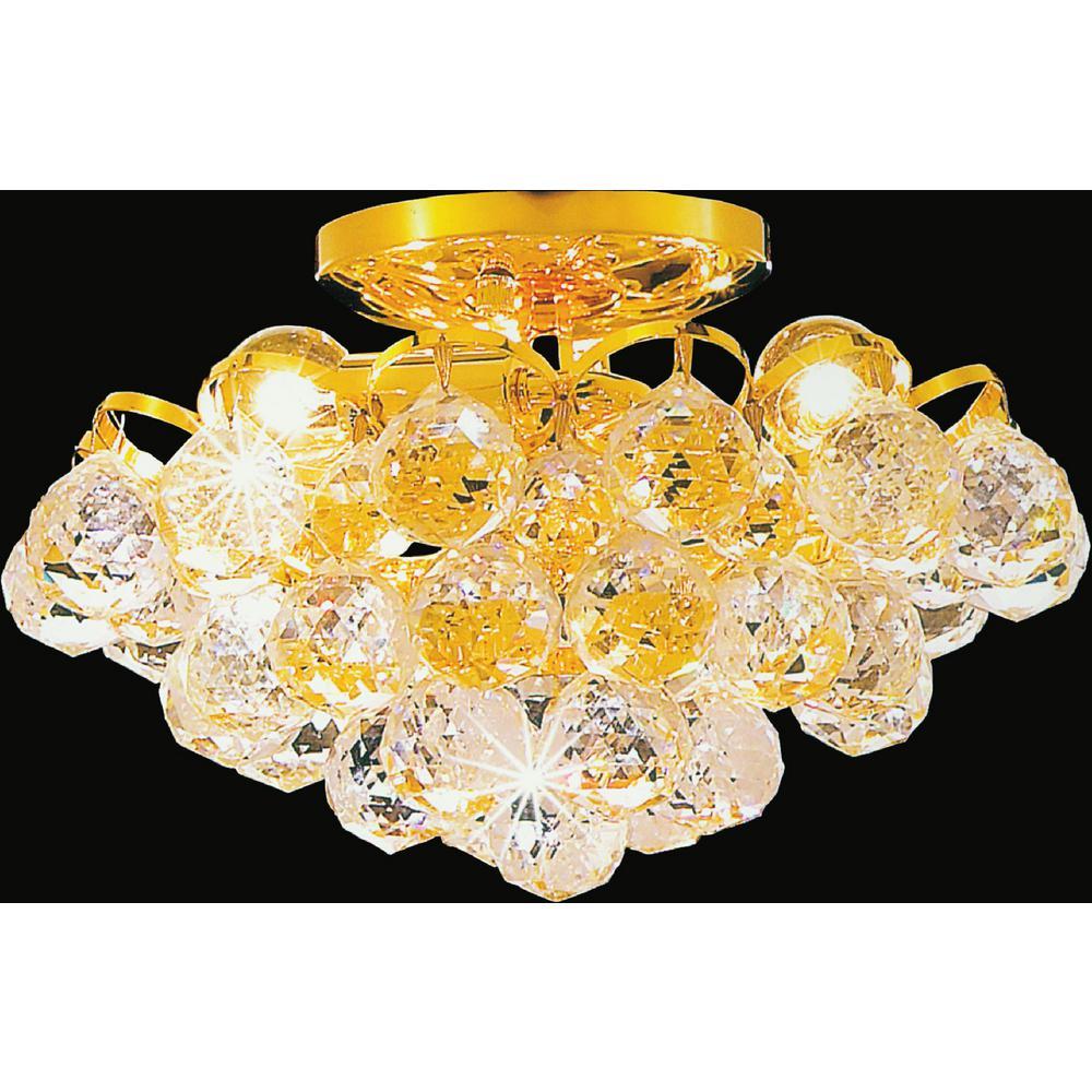 Glimmer 3-Light Gold Semi-Flush Mount