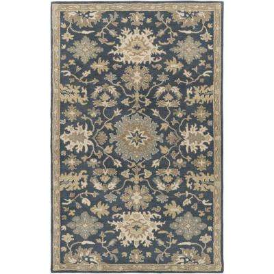 Gilgamesh Navy 2 ft. x 3 ft. Indoor Area Rug