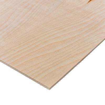 Birch Plywood (Common: 1/4 in  x 2 ft  x 4 ft