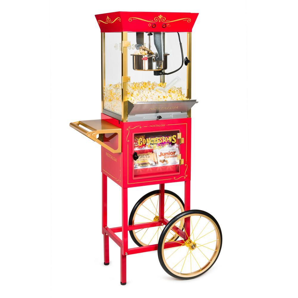 c3cea10184 Nostalgia 8 oz. Popcorn Machine and Concession Cart-CCP-610 - The ...