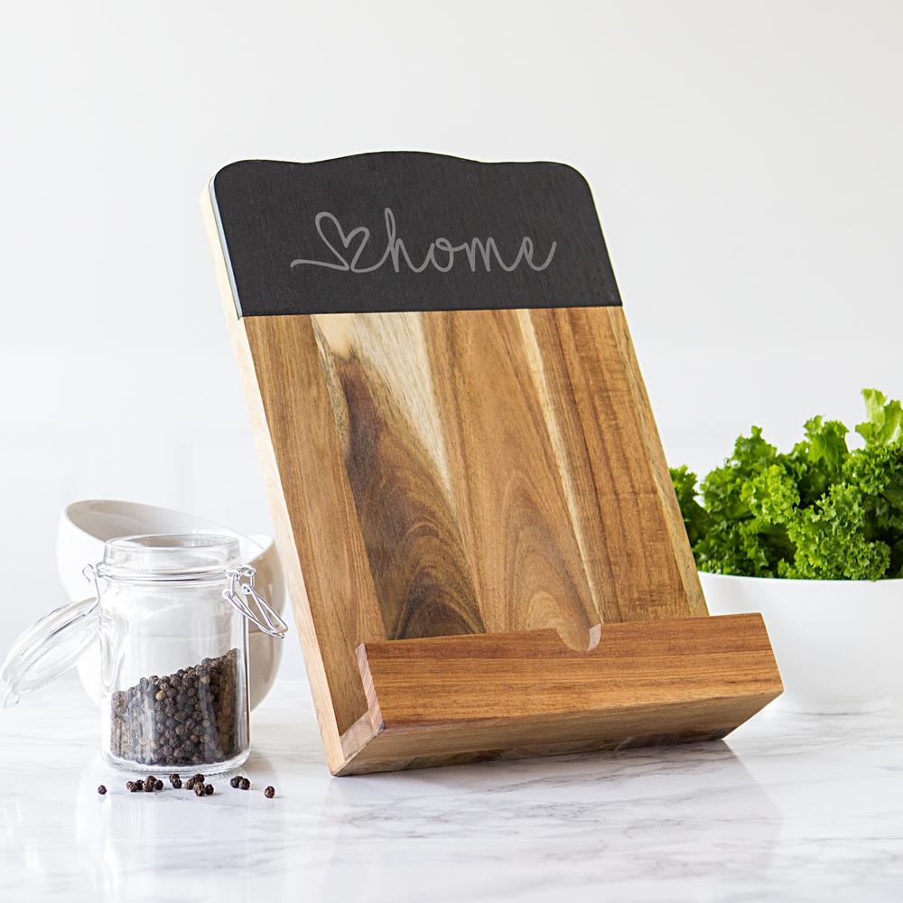 Love Home Acacia Wood Recipe Stand Book Tablet Holder For Kitchen Counter  Top