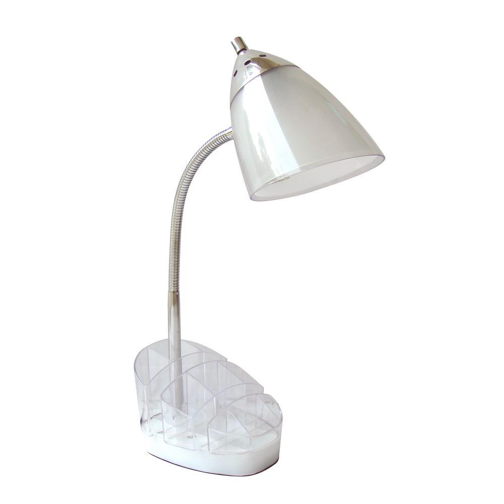Title 20 20.75 in Height ILamp Desk Lamp White Led Bulb