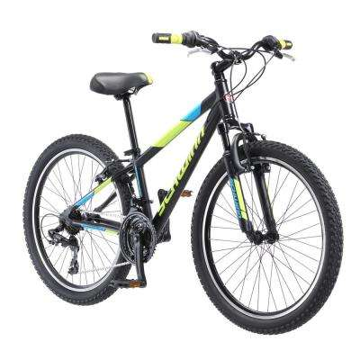 24 in. Boy's Bike for Ages 8-Years to 12-Years in Black