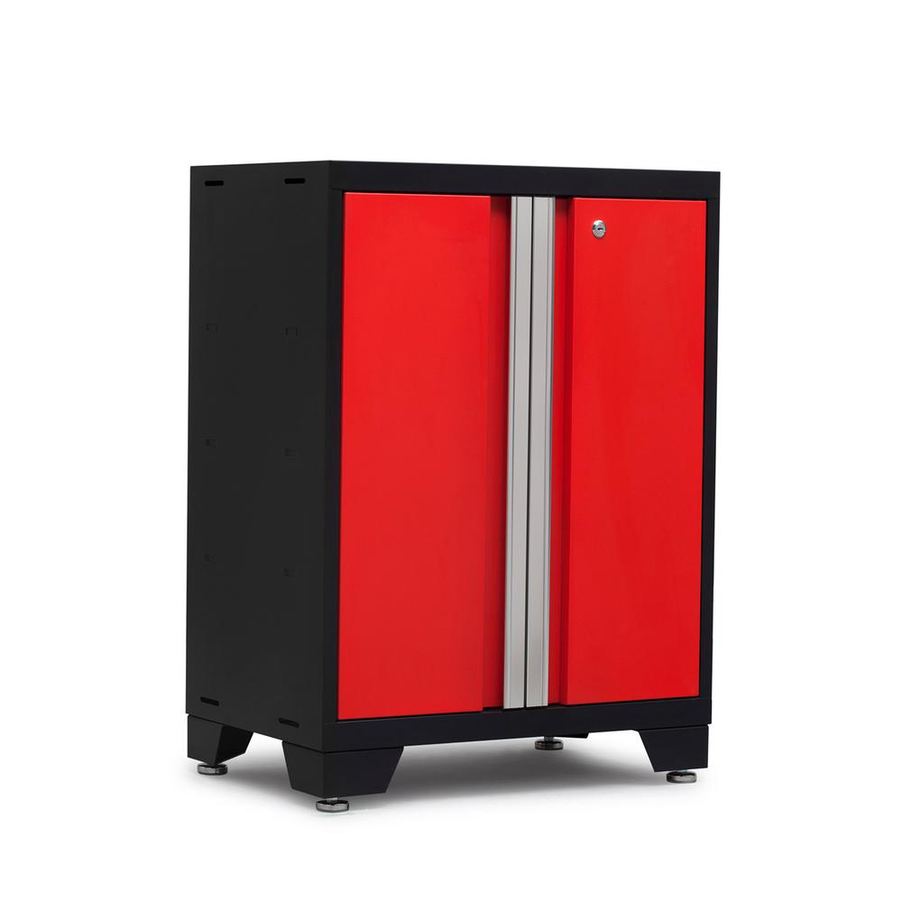 NewAge Products Bold Series 3.0 24 in. W x 33.25 in. H x 16 in. D 24-Gauge Steel 2-Door Base Cabinet in Red