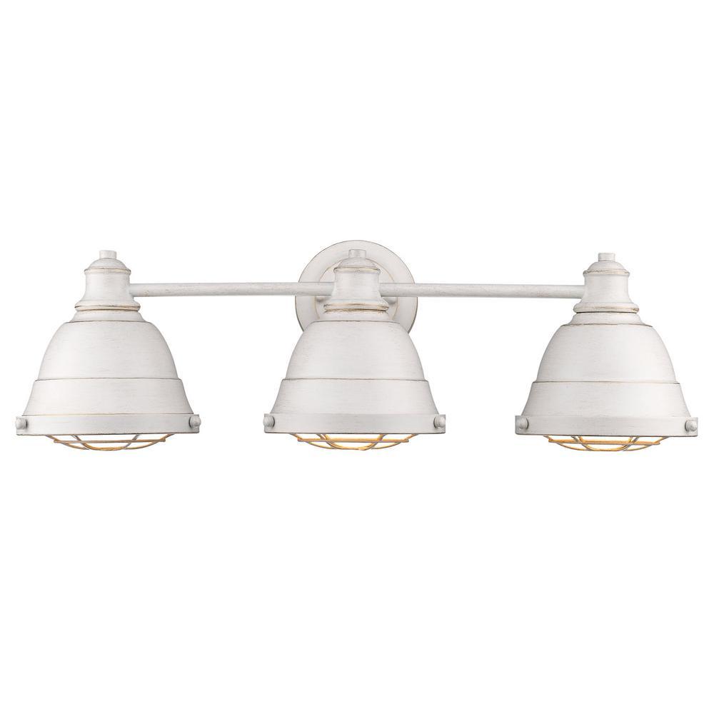 Bartlett 3-Light French White Bath Light