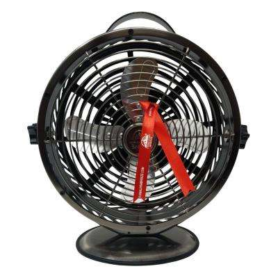 Gunmetal Grey 10.9 in. Himalayan Breeze Portable Table Fan